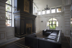 fireplace designed by Boiseries Turati